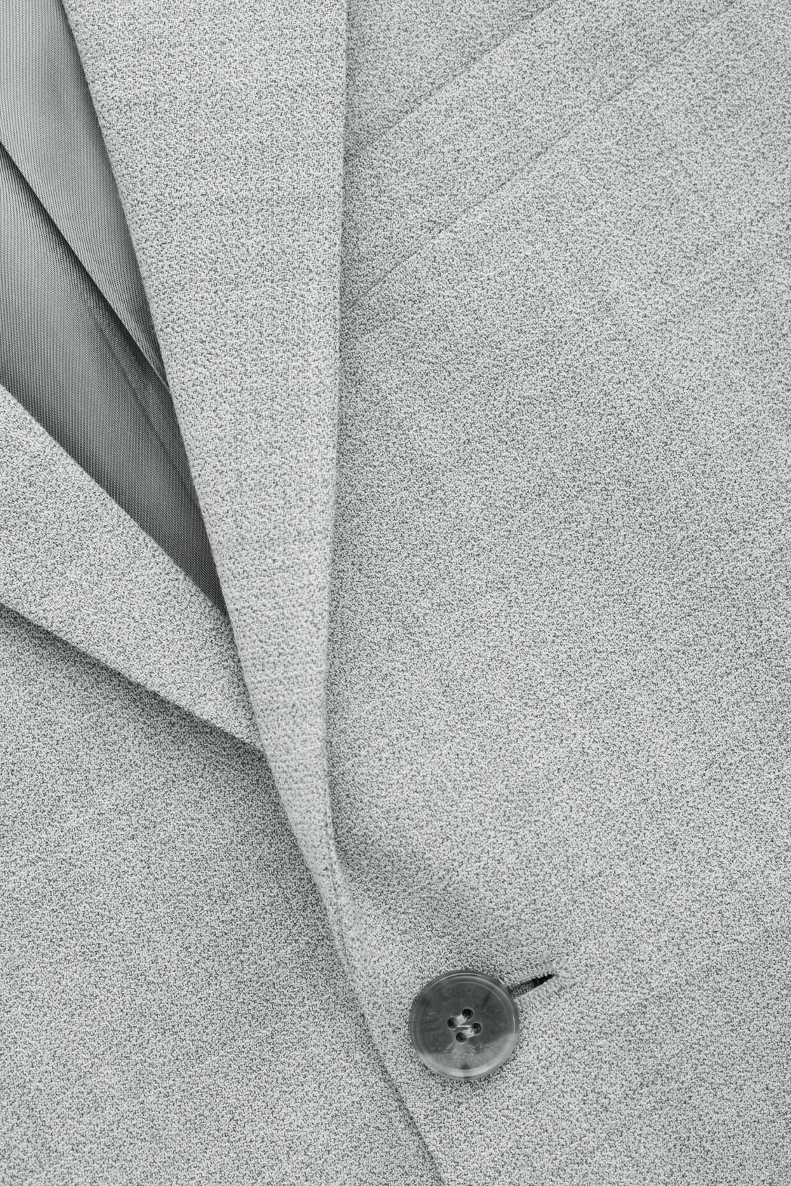 Side image of Cos higher-break wool blazer  in grey