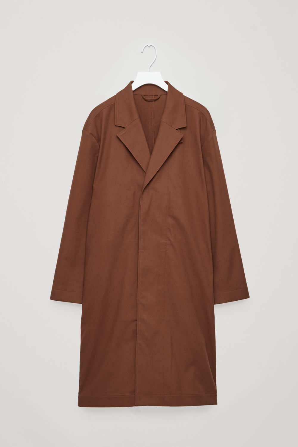 RELAXED COTTON-TWILL TRENCH