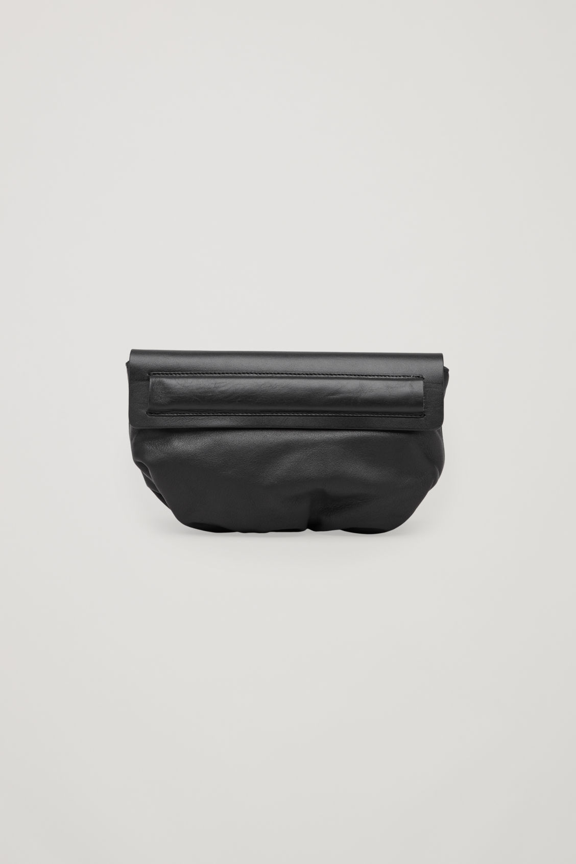 Side image of Cos leather belt bag in black