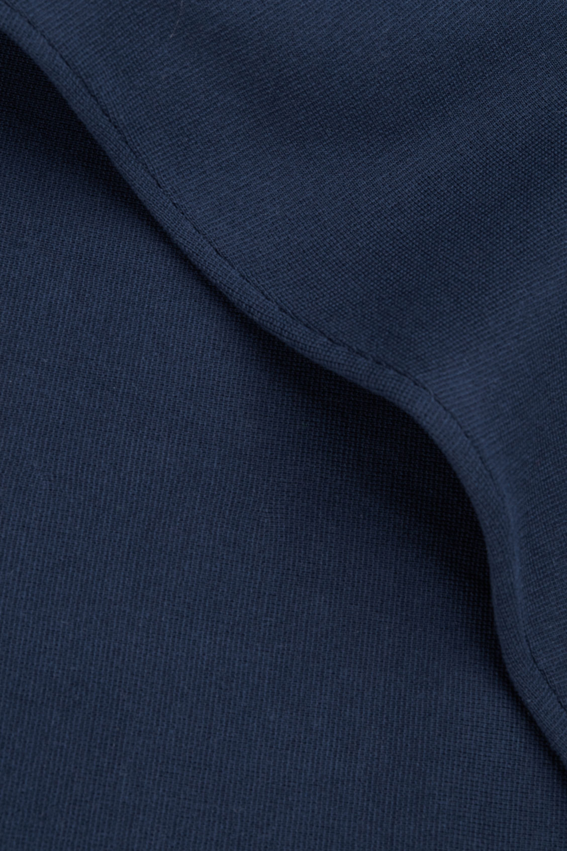 Side image of Cos high-neck a-line jumper in blue