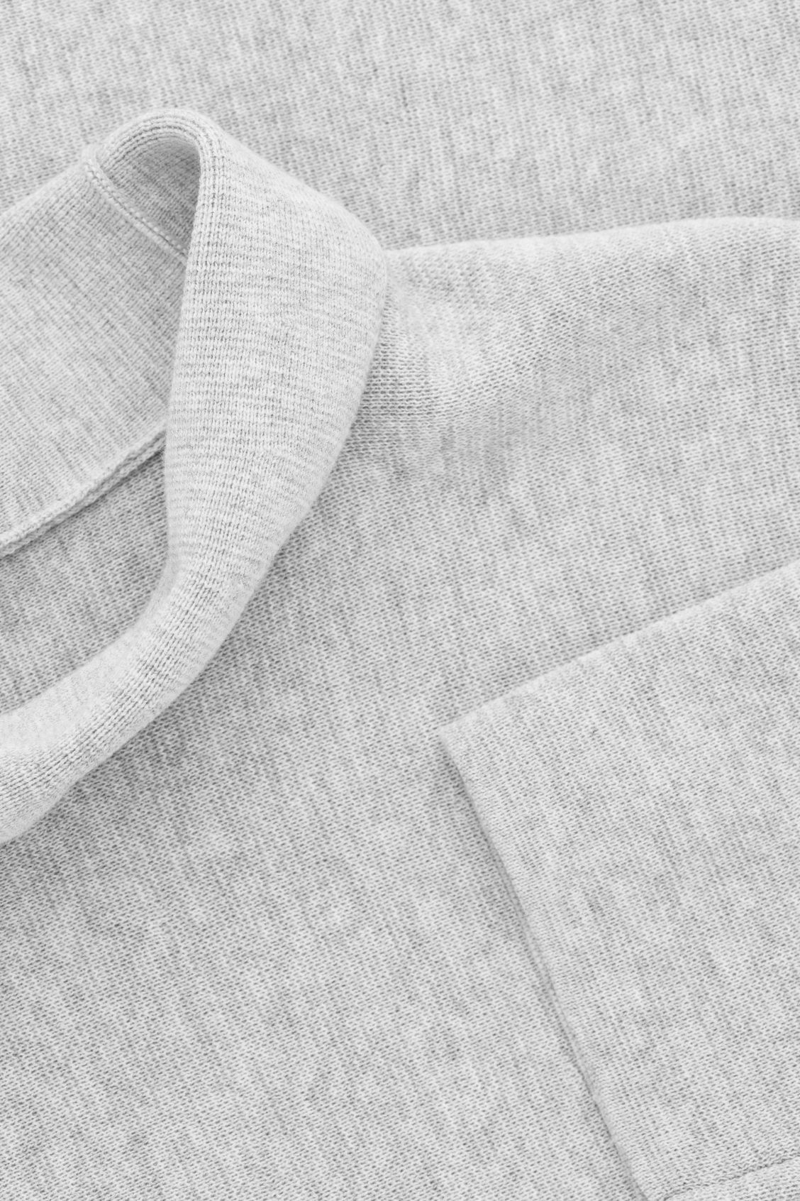 Side image of Cos high-neck a-line jumper in grey