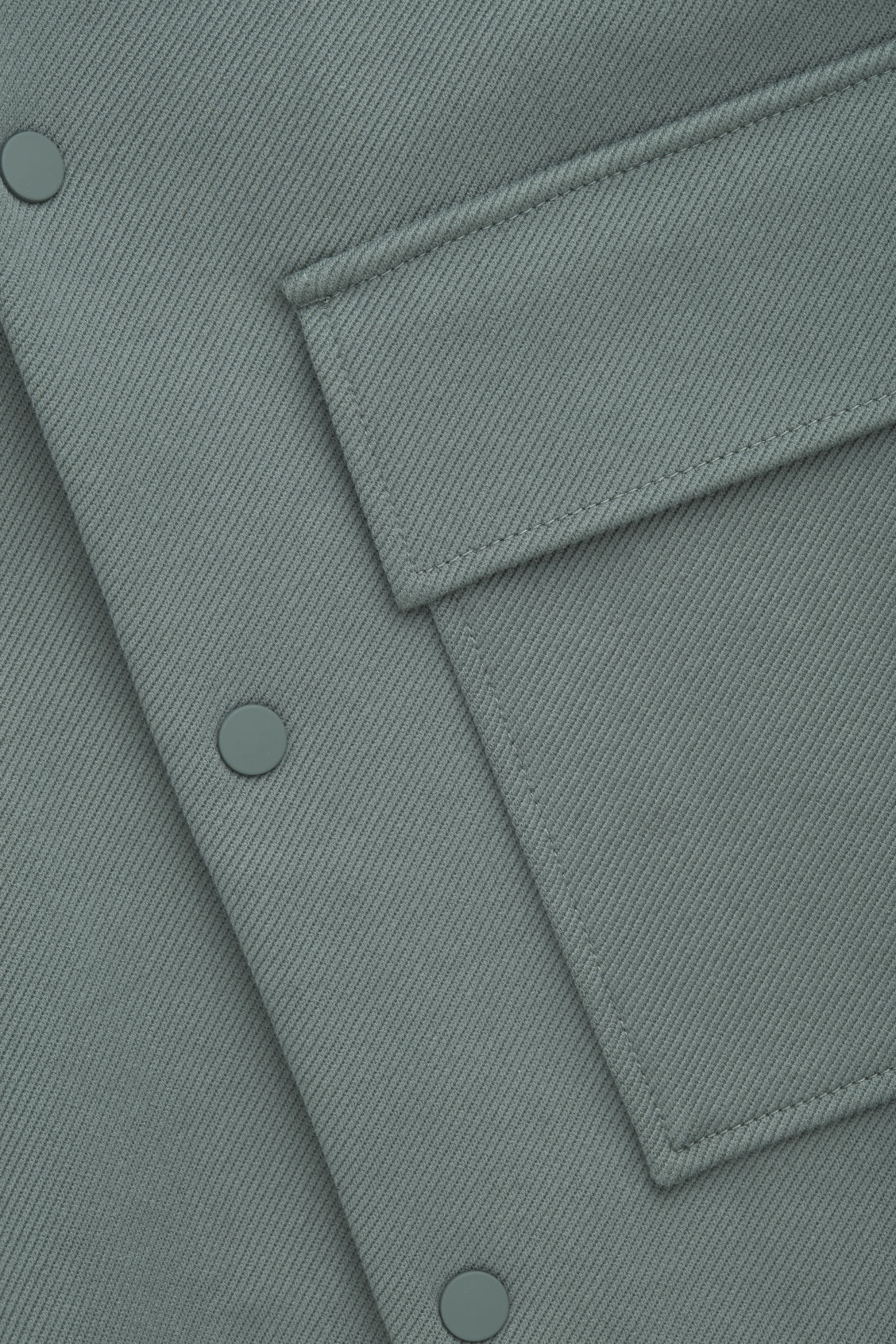 Side image of Cos cotton-twill shirt jacket  in green
