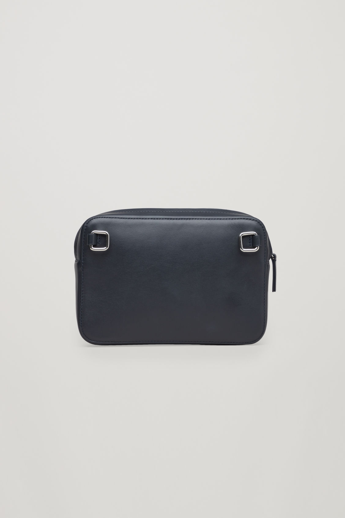 Side image of Cos multifunctional leather bag  in blue