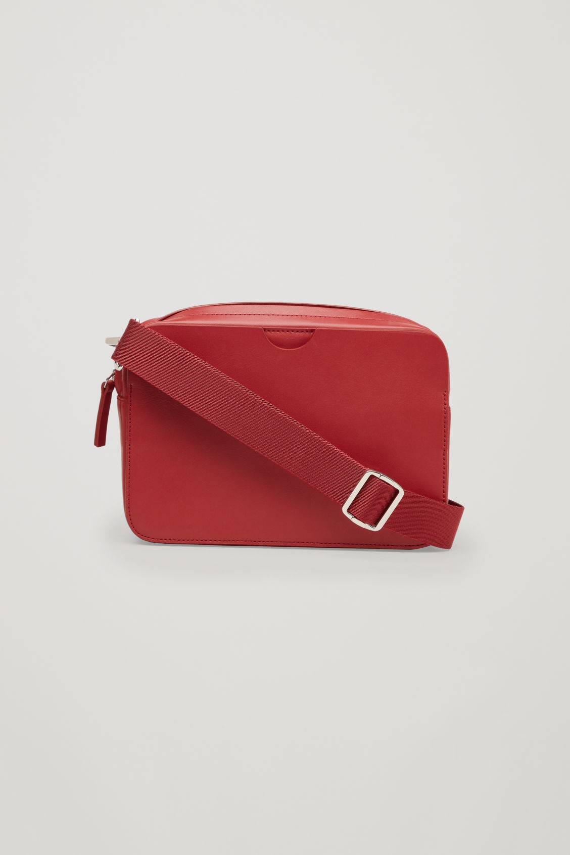Front image of Cos multifunctional leather bag  in red