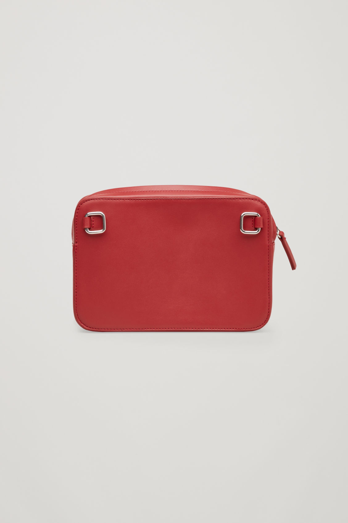 Side image of Cos multifunctional leather bag  in red