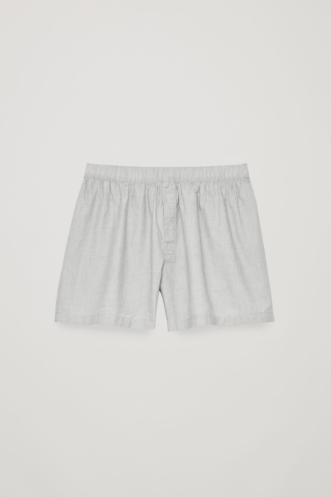 Front image of Cos cotton chambray boxers in grey