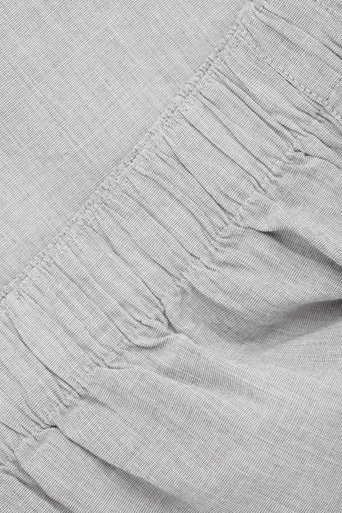 Side image of Cos cotton chambray boxers in grey