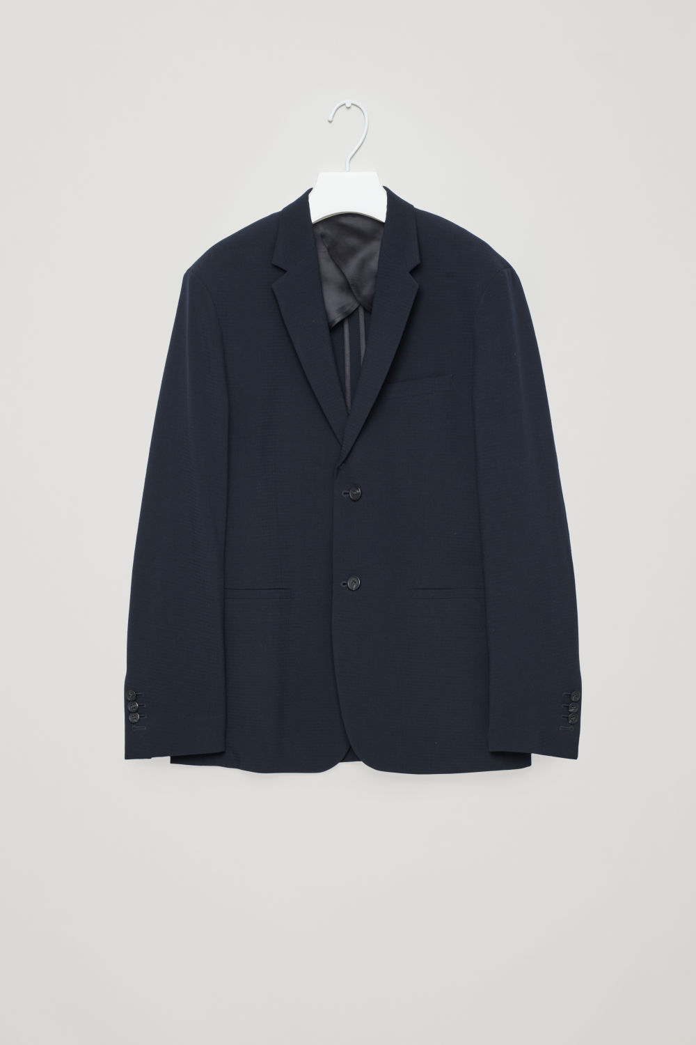 WOOL SEERSUCKER SUIT JACKET