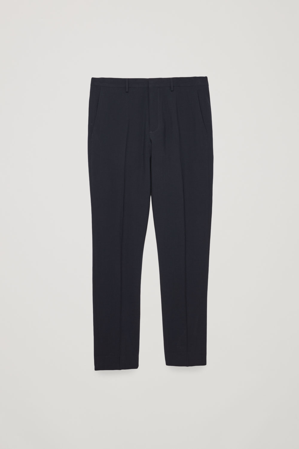 WOOL SEERSUCKER TROUSERS
