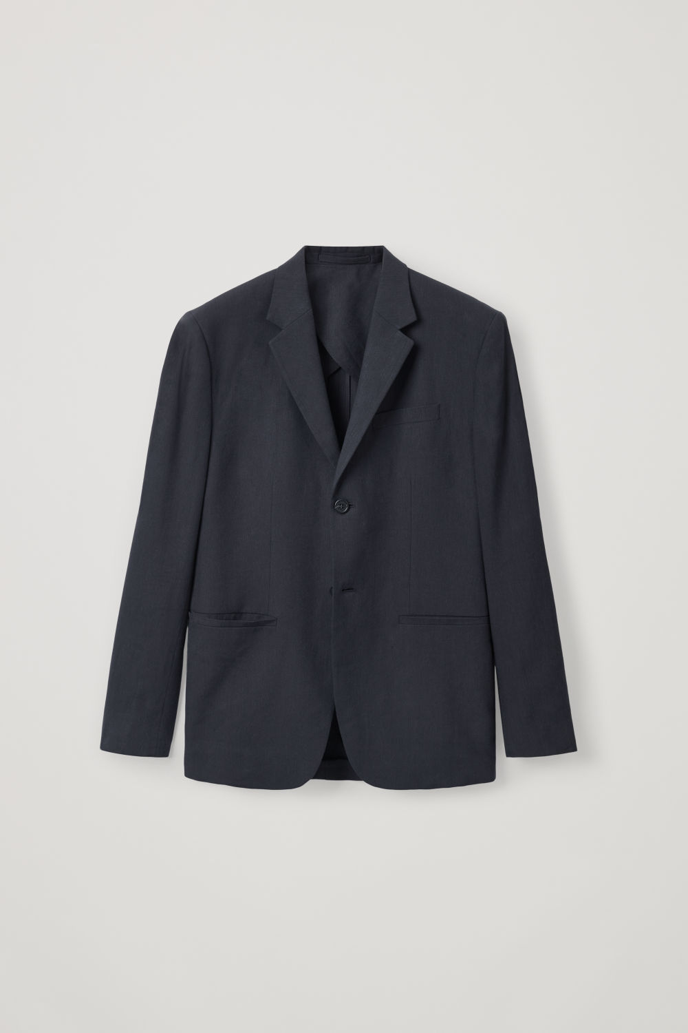 Front image of Cos slim-fit linen blazer  in blue