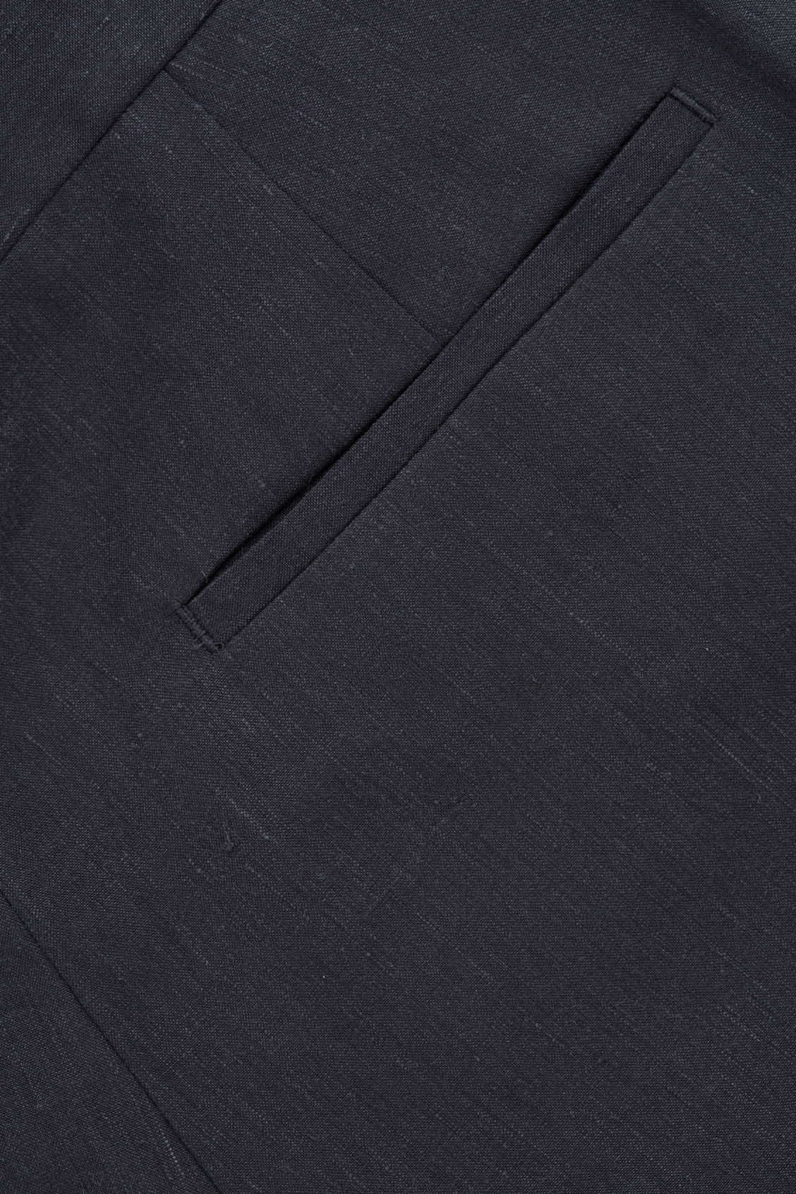Side image of Cos slim-fit linen trousers in blue
