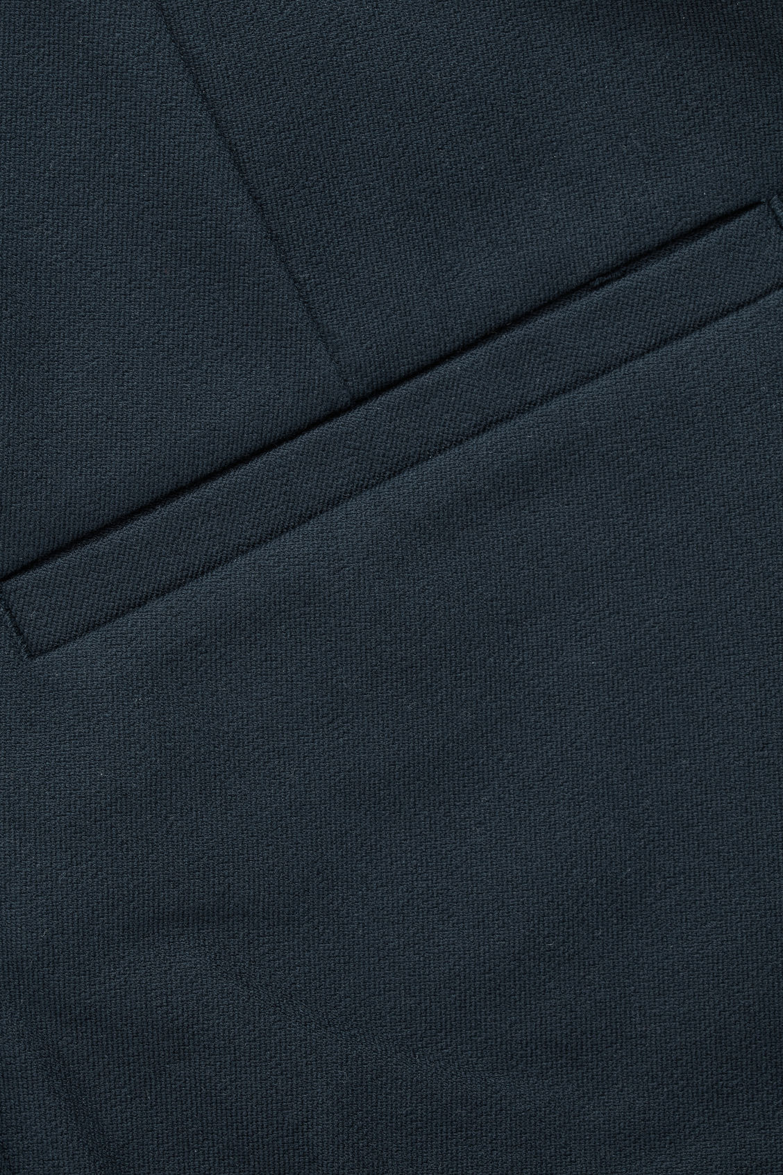 Side image of Cos slim-fit trousers with ankle zips  in blue