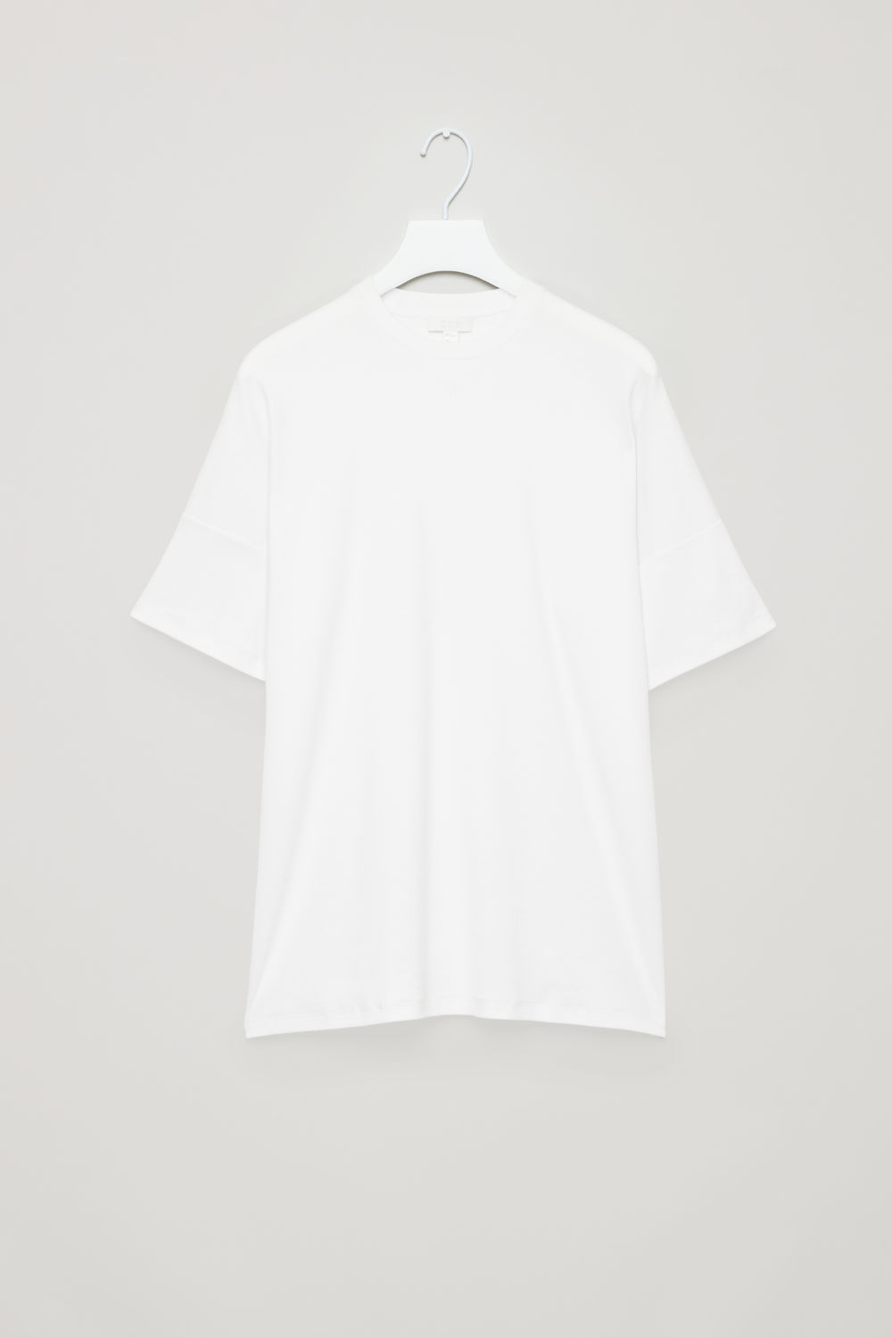 DIAGONAL-RIBBED T-SHIRT