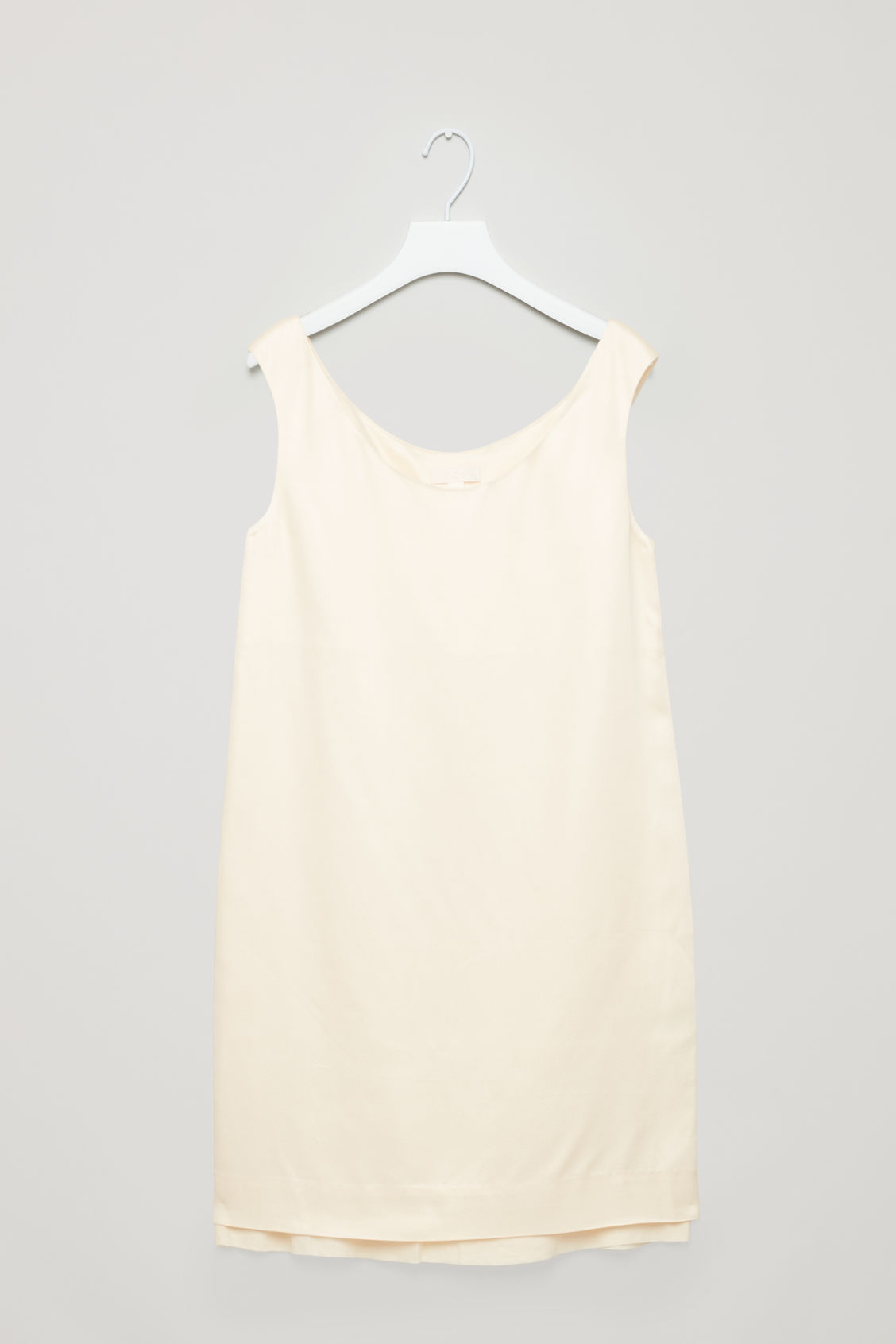 Front image of Cos short sleeveless dress in neutral