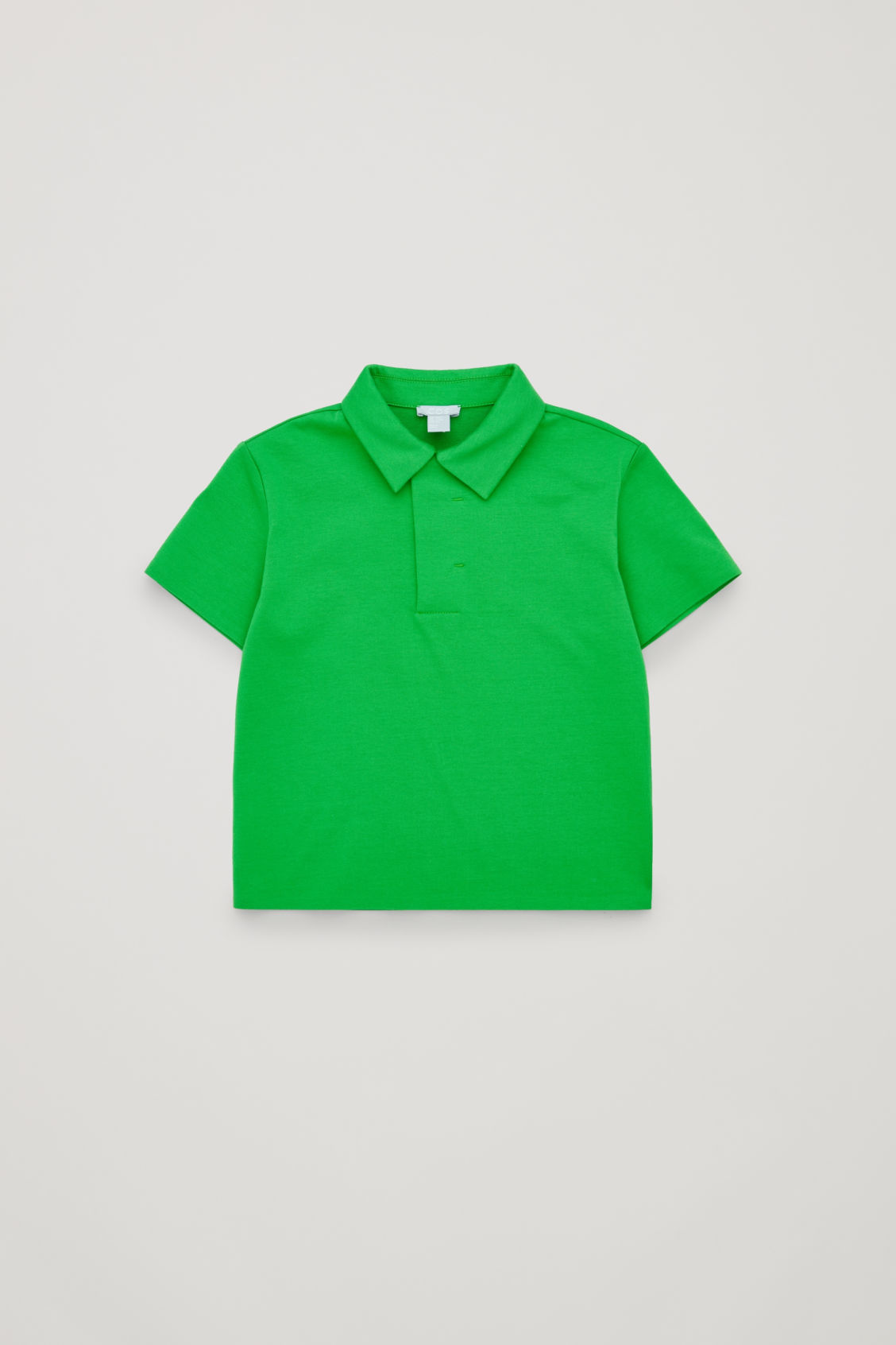 Front image of Cos oversized polo shirt  in green