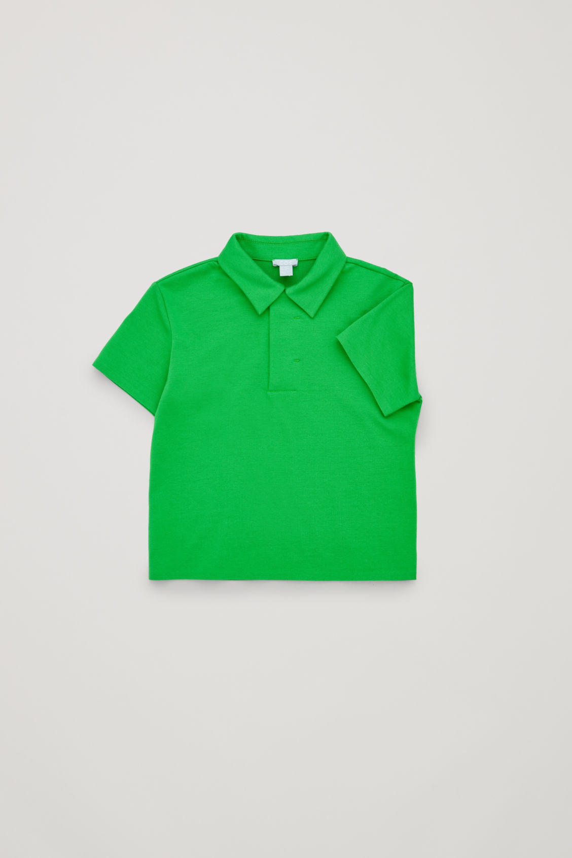 Side image of Cos oversized polo shirt  in green