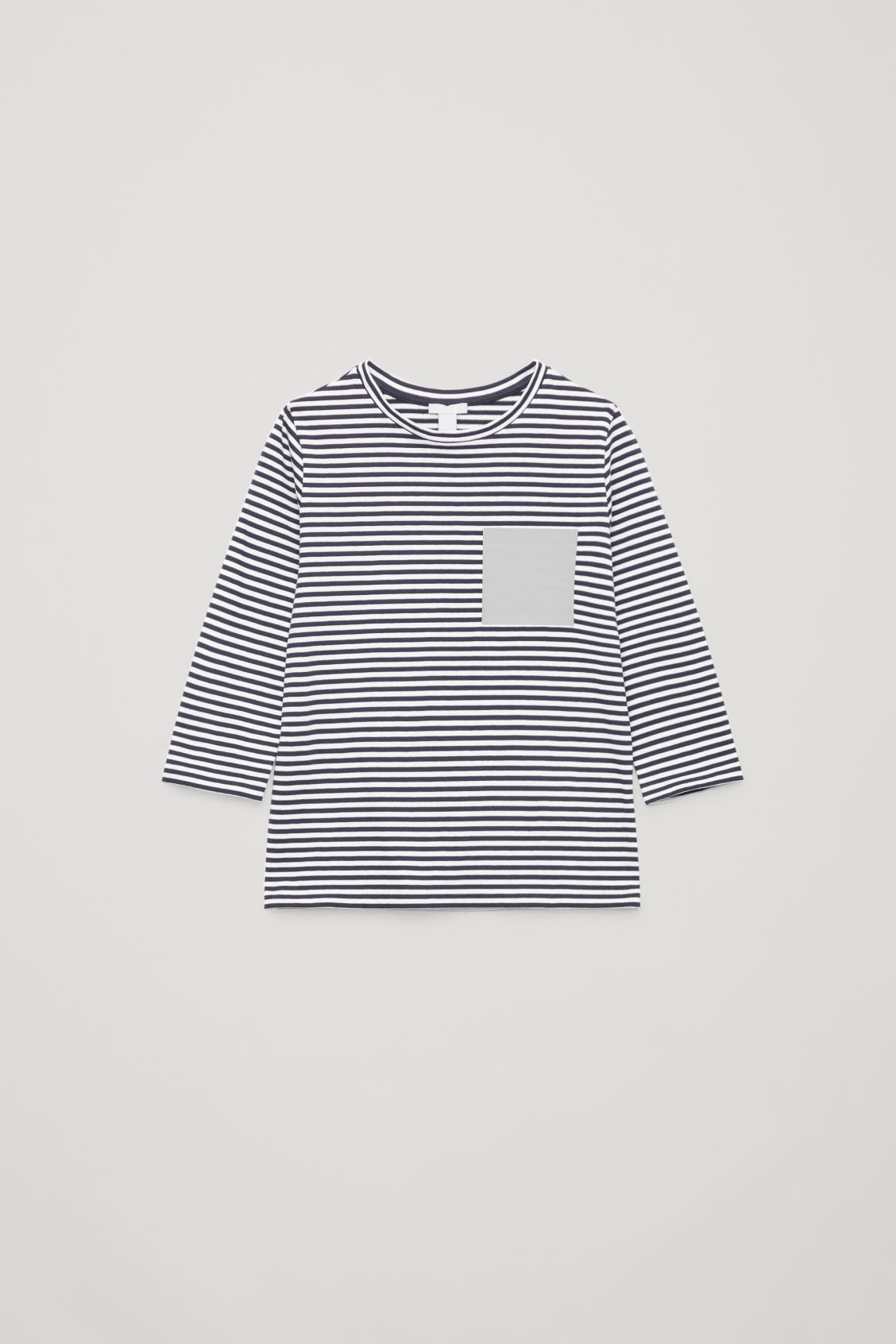 Front image of Cos striped long-sleeved t-shirt  in blue