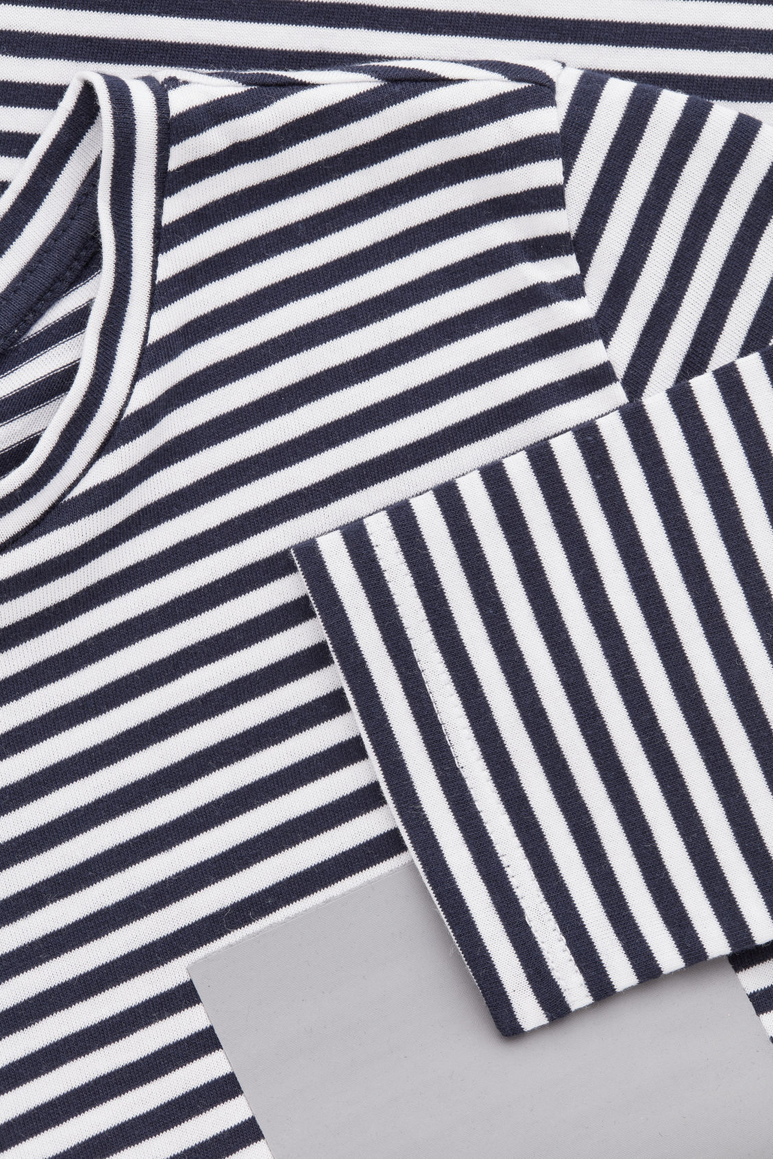 Side image of Cos striped long-sleeved t-shirt  in blue
