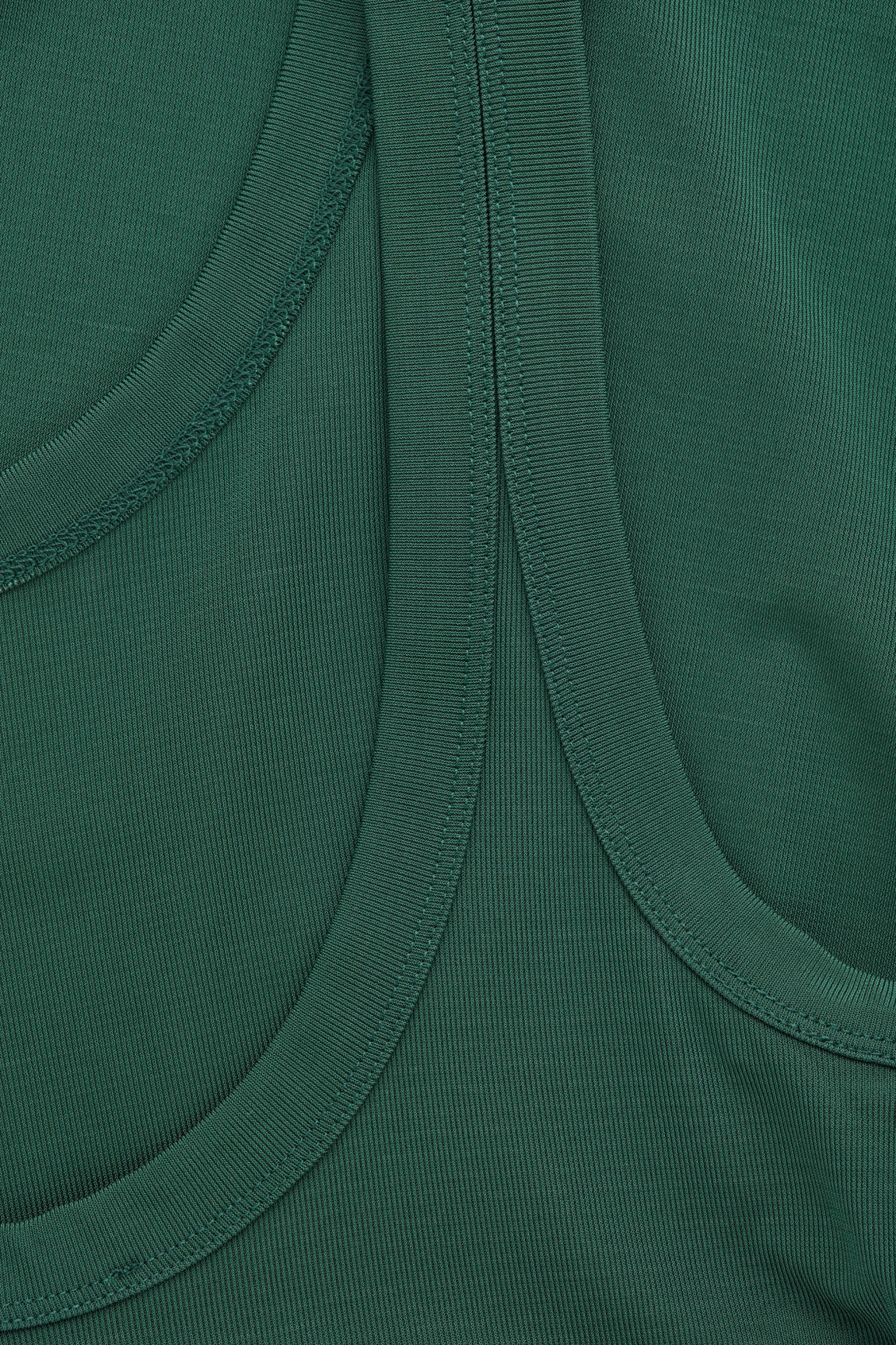 Side image of Cos low-back ribbed vest in green