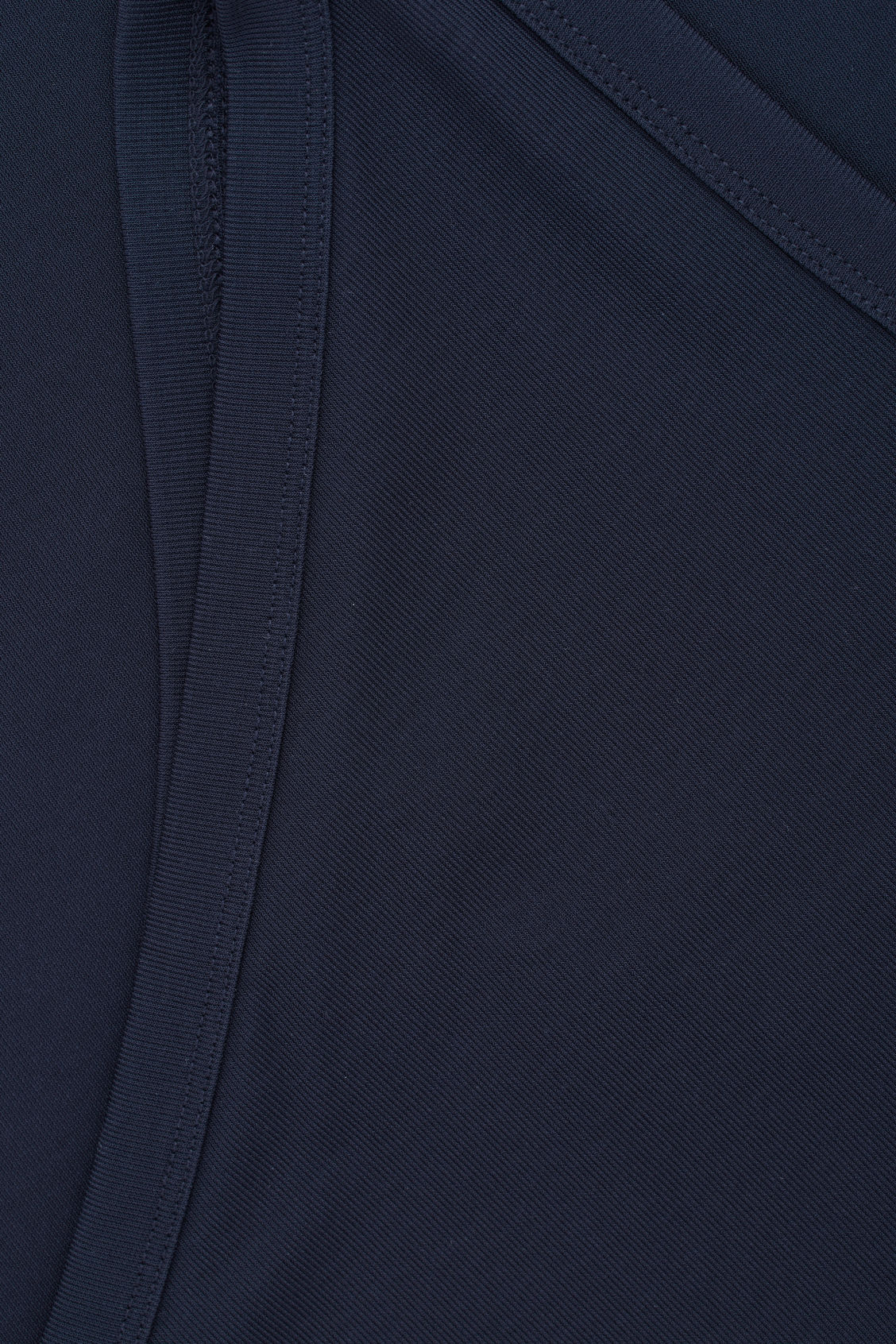Side image of Cos one-shoulder jersey top in blue
