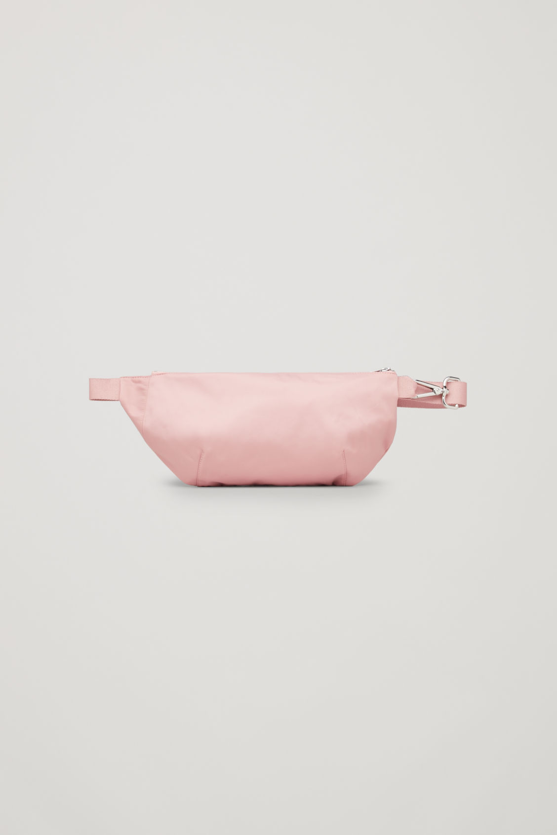 Front image of Cos nylon belt bag in pink
