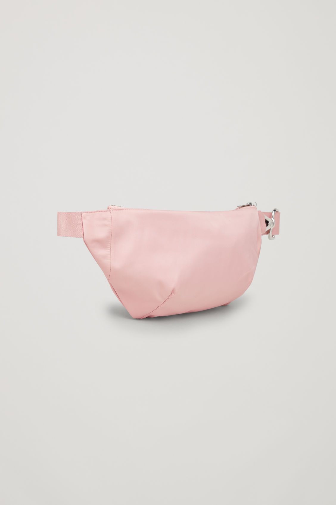Side image of Cos nylon belt bag in pink