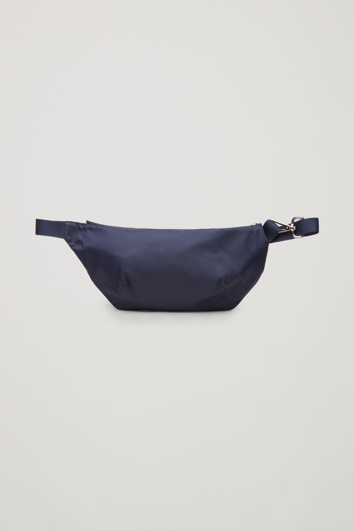 Front image of Cos nylon belt bag in blue