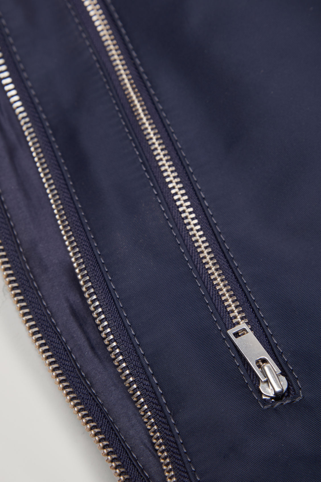 Side image of Cos nylon belt bag in blue