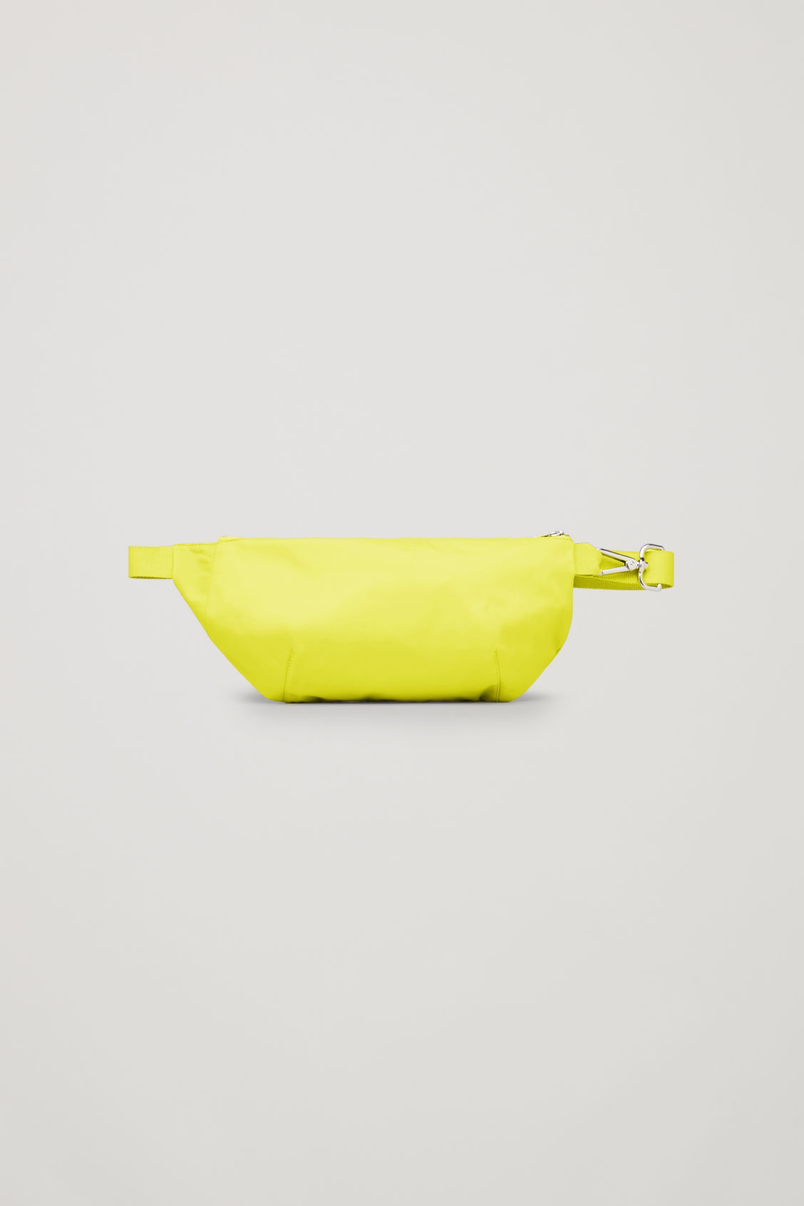 Front image of Cos nylon belt bag in yellow