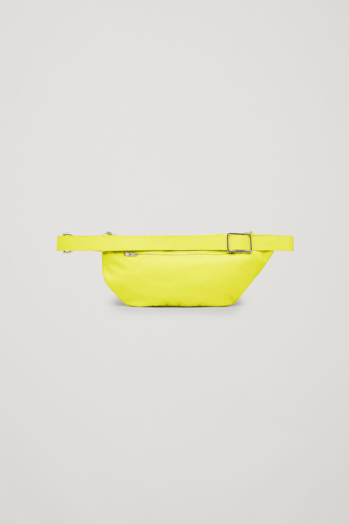 Side image of Cos nylon belt bag in yellow