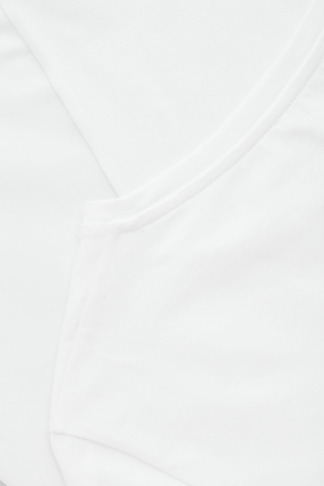 Side image of Cos short-sleeved a-line top in white