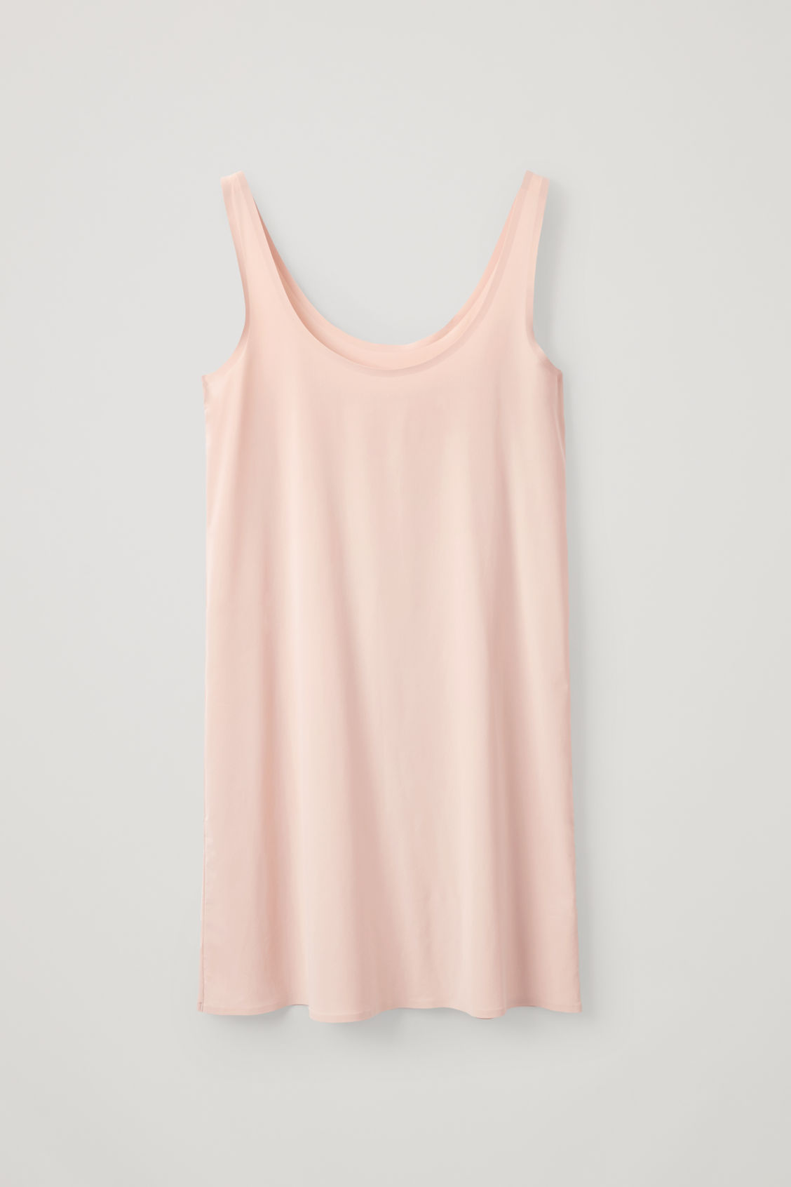 Front image of Cos seamless slip dress  in beige
