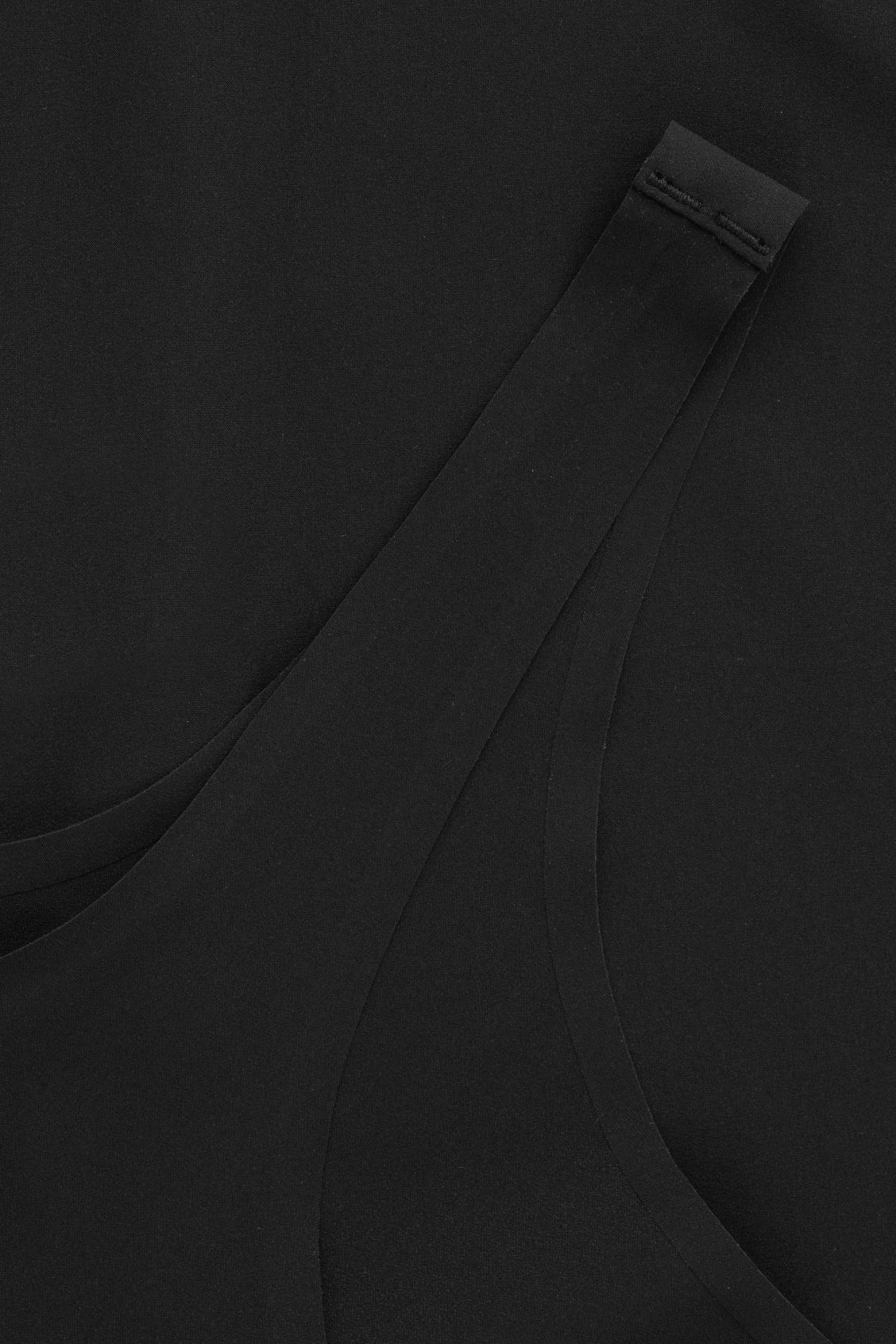Side image of Cos seamless slip dress  in black