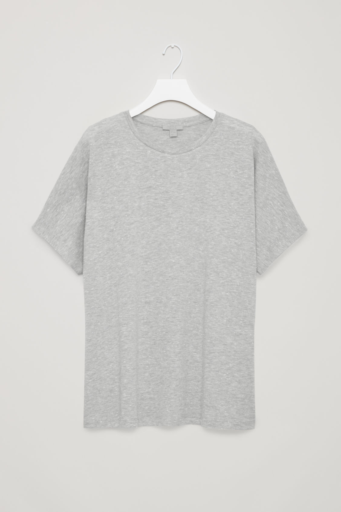 Front image of Cos oversized speckled t-shirt in grey