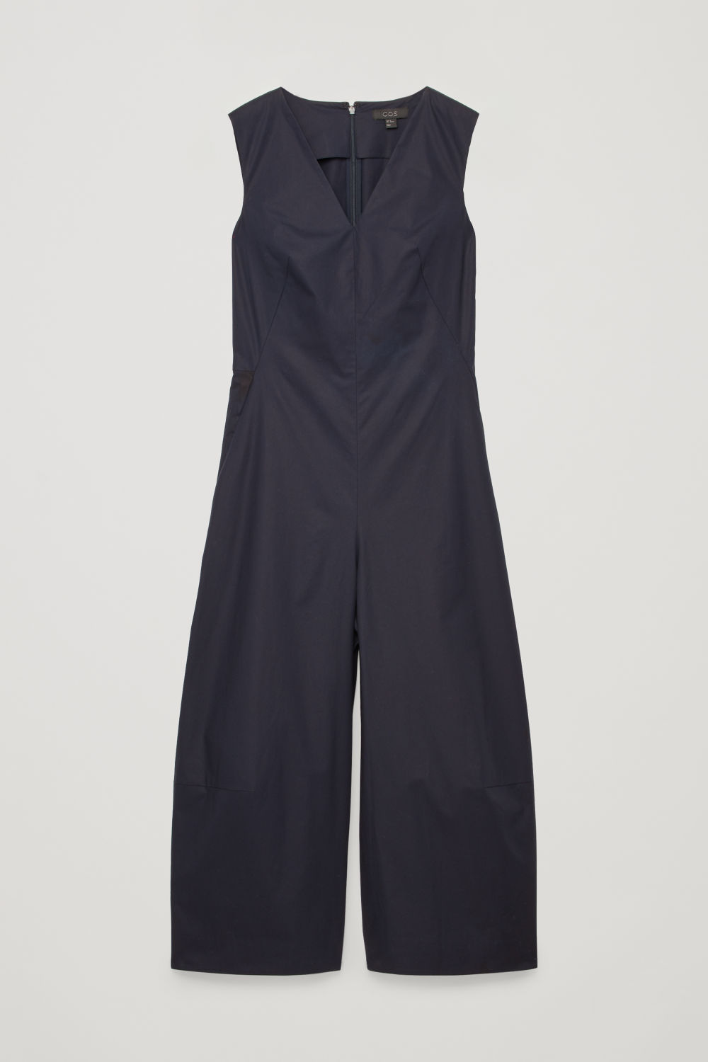 WIDE-LEG JUMPSUIT WITH V-NECK