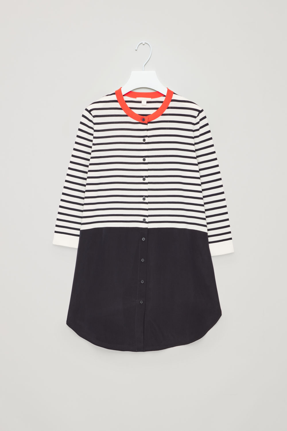 STRIPED KNITTED-WOVEN TOP