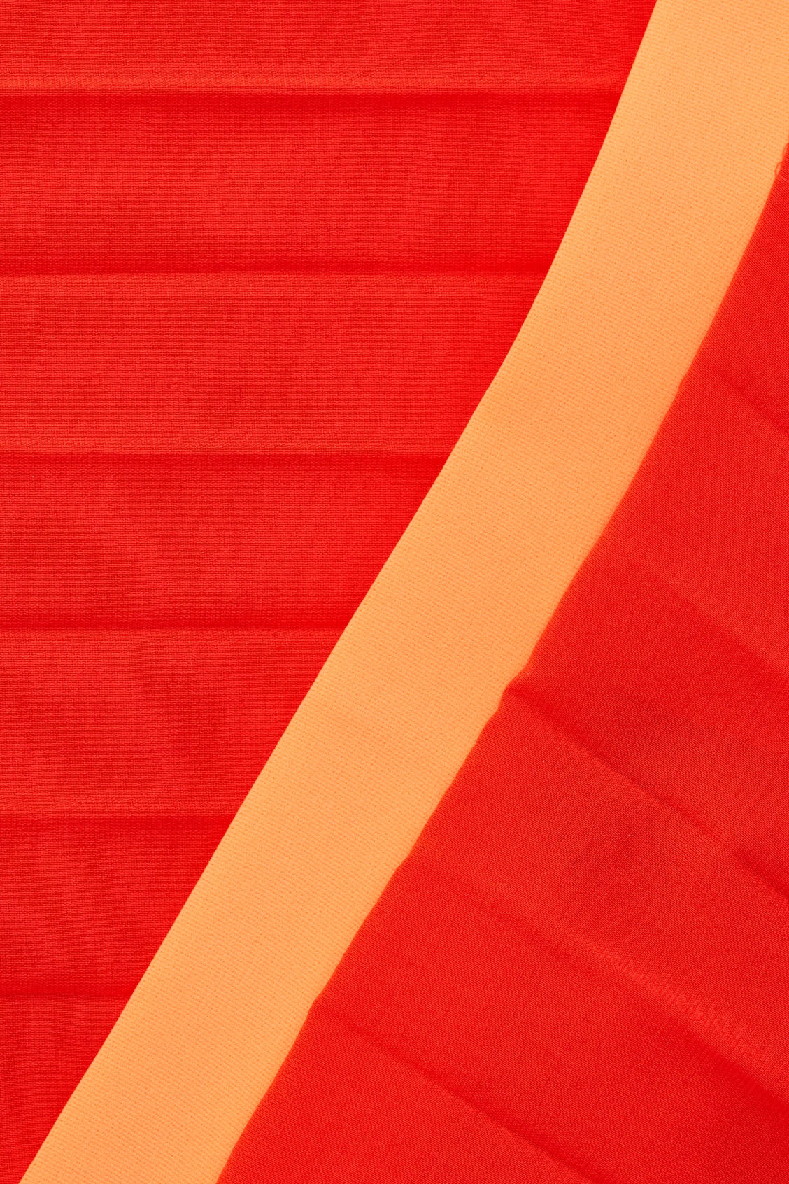 Side image of Cos pleated asymmetric skirt in red