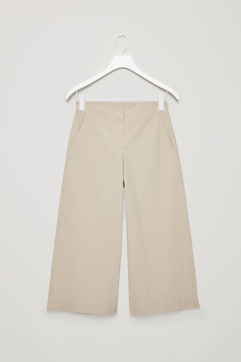 POPLIN WIDE-LEG TROUSERS