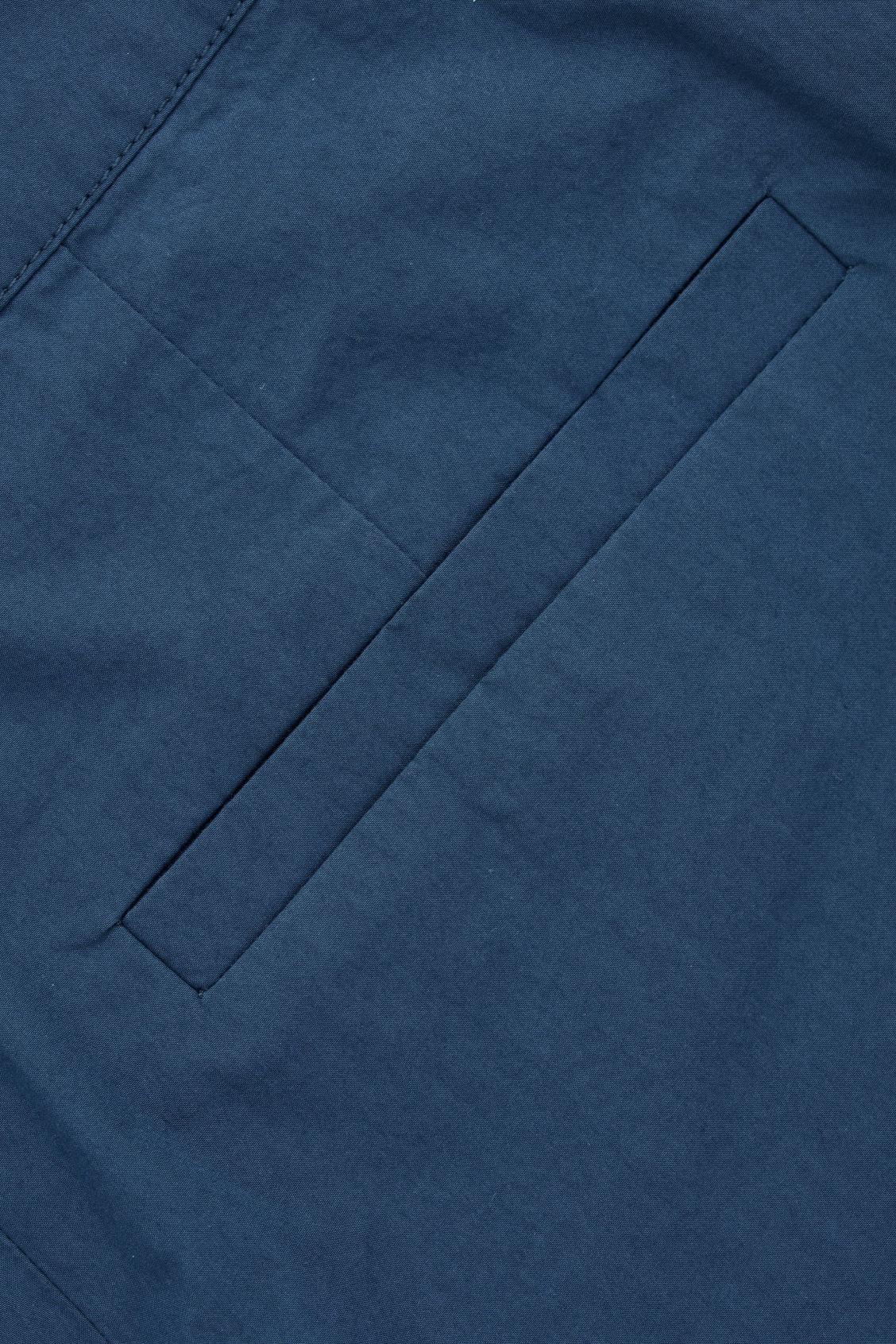 Side image of Cos poplin wide-leg trousers in blue