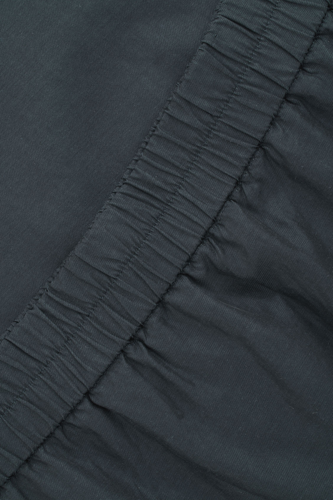 Side image of Cos draped double-layered skirt in blue