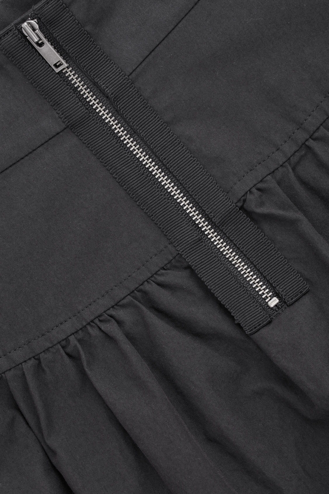Side image of Cos voluminous poplin panelled skirt in black