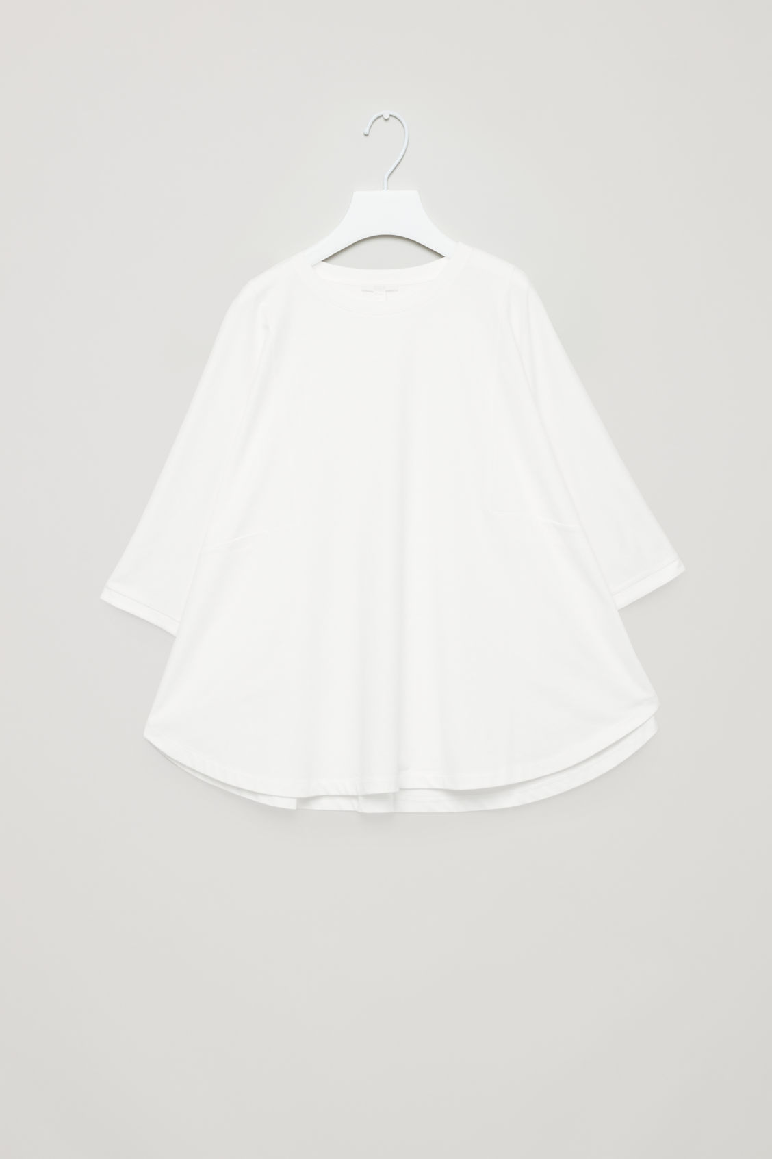 Front image of Cos circle-cut t-shirt in white