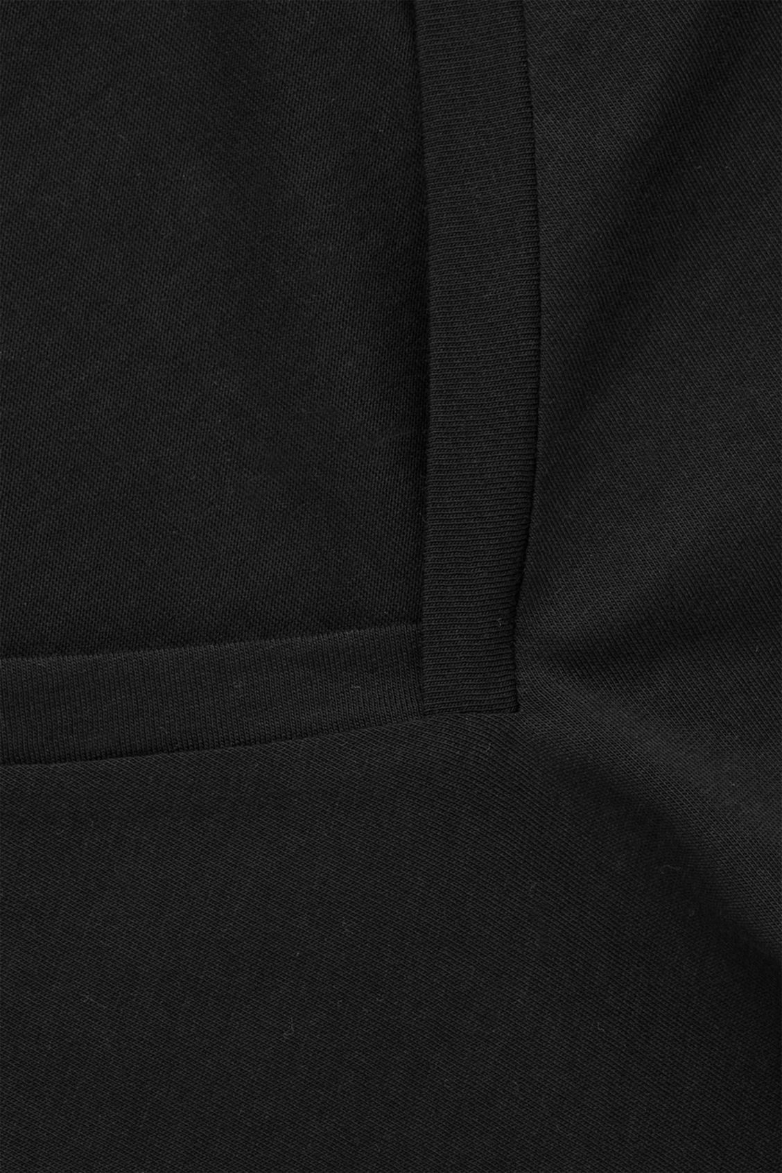 Side image of Cos wide v-neck t-shirt in black
