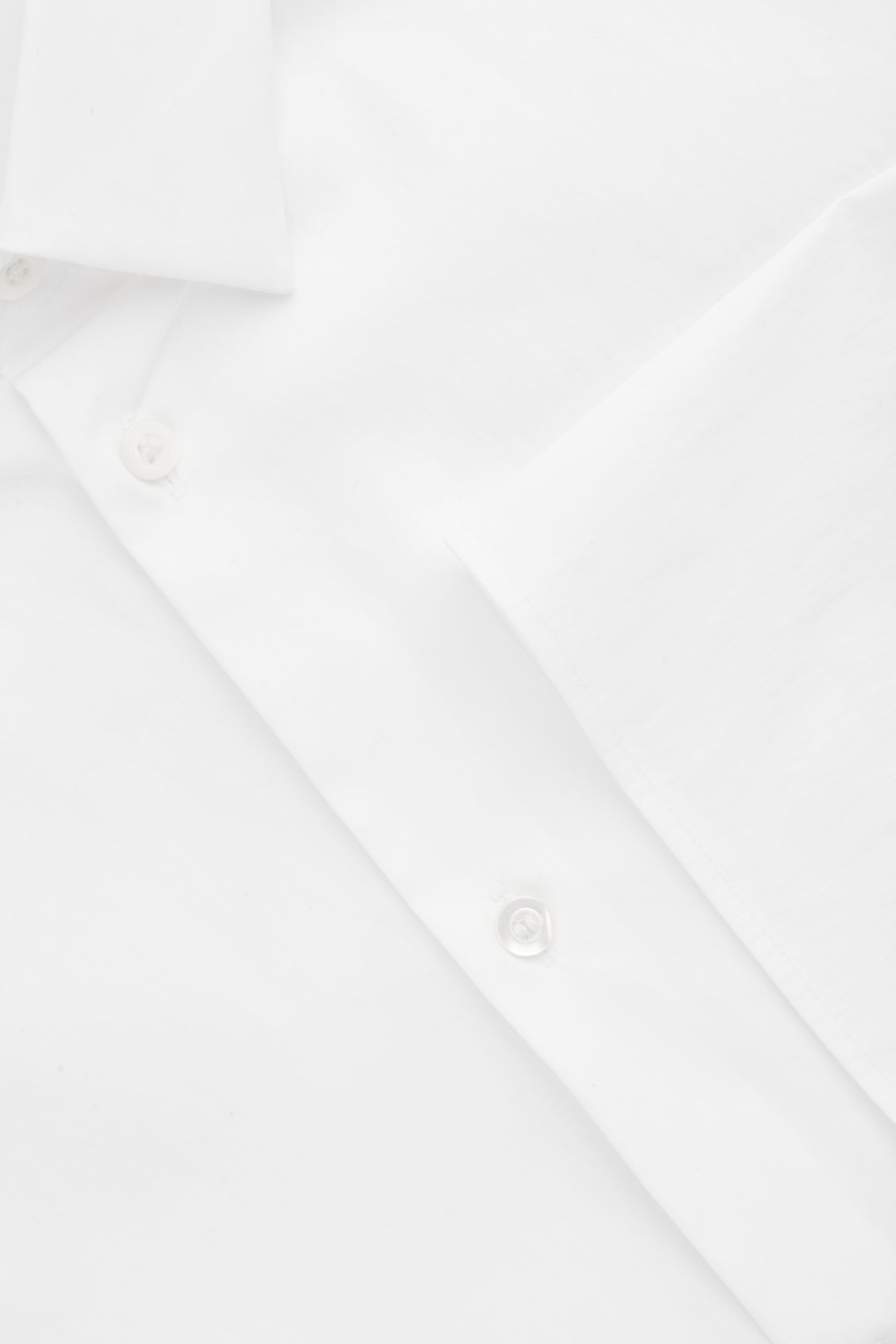 Side image of Cos ¾-sleeved cotton shirt in white