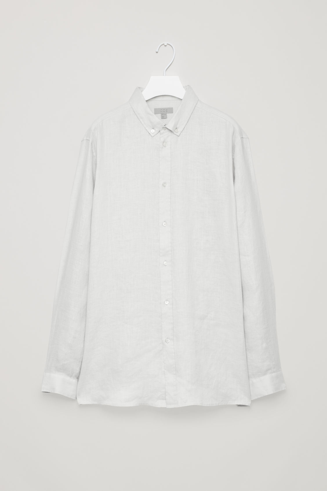 Front image of Cos linen shirt in grey
