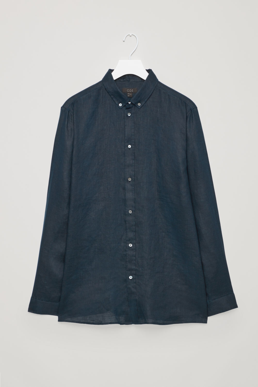 Front image of Cos linen shirt in blue