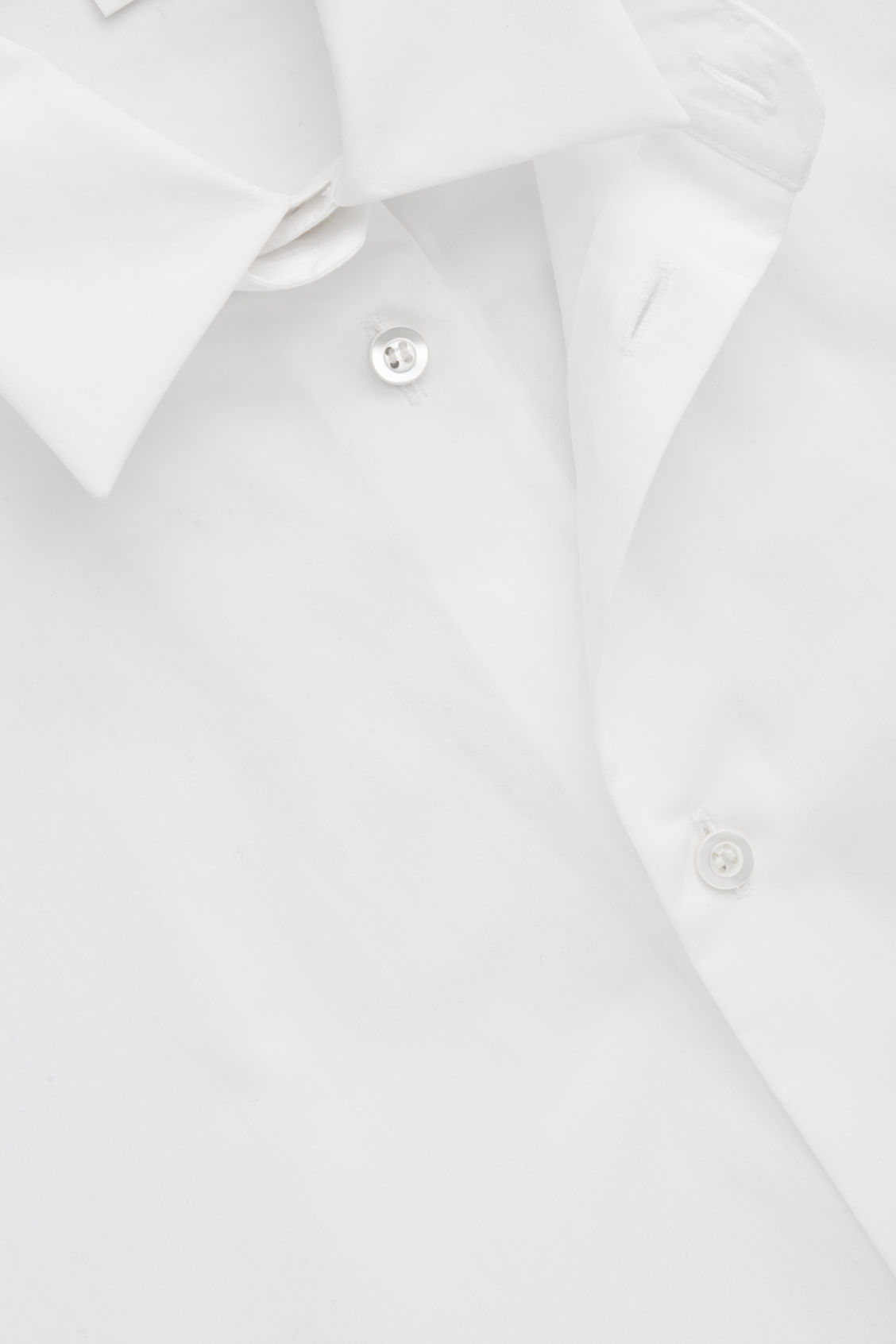 Side image of Cos double layer cotton shirt in white