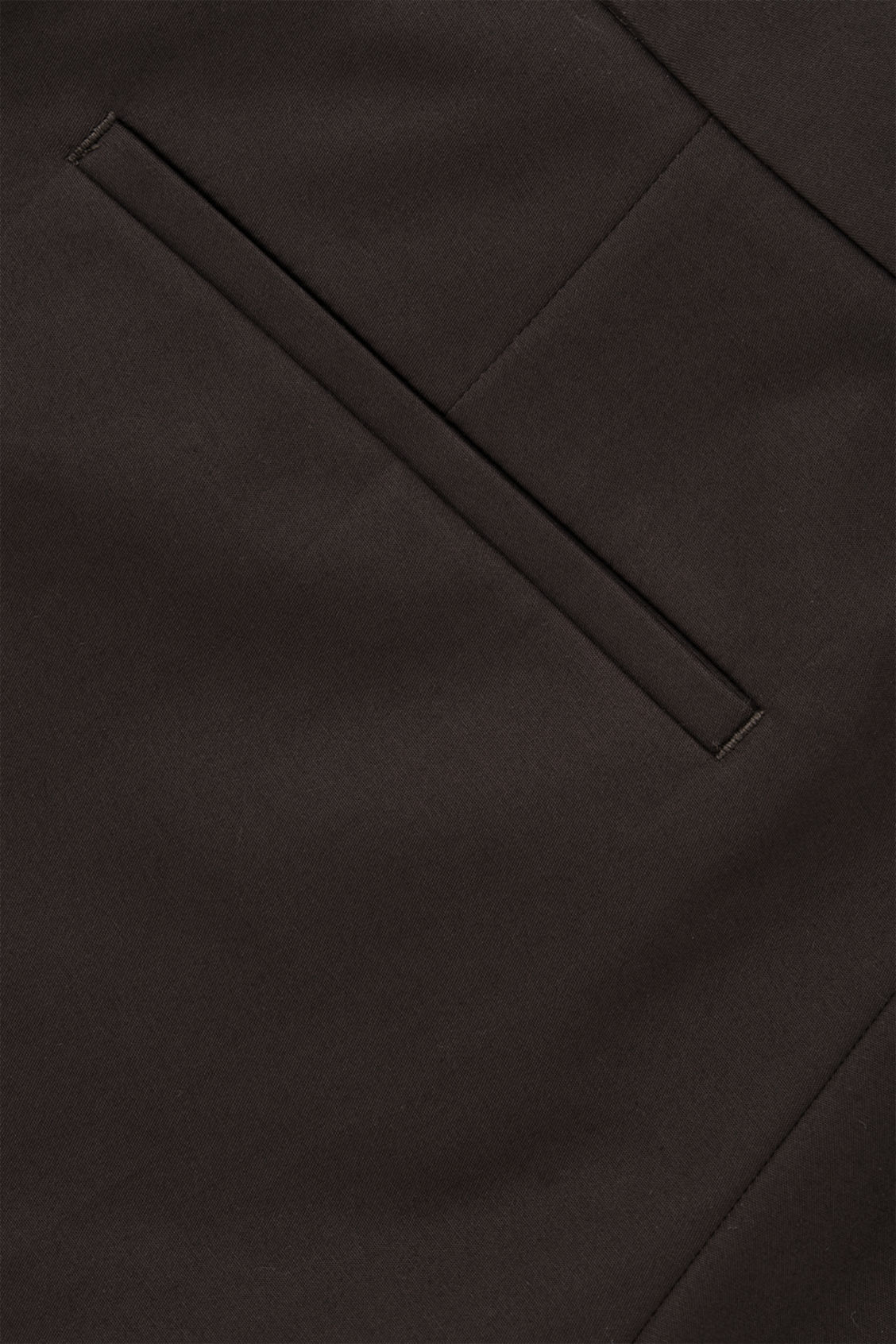 Side image of Cos skinny stretch-cotton trousers in brown