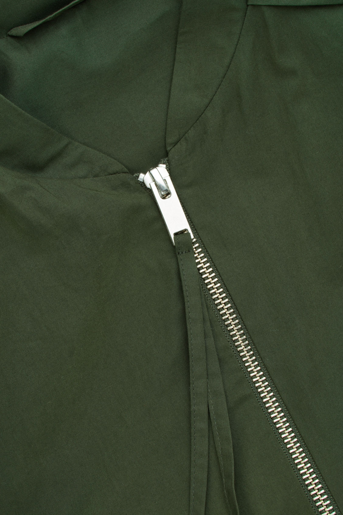 Side image of Cos seam-detailed bomber jacket in green