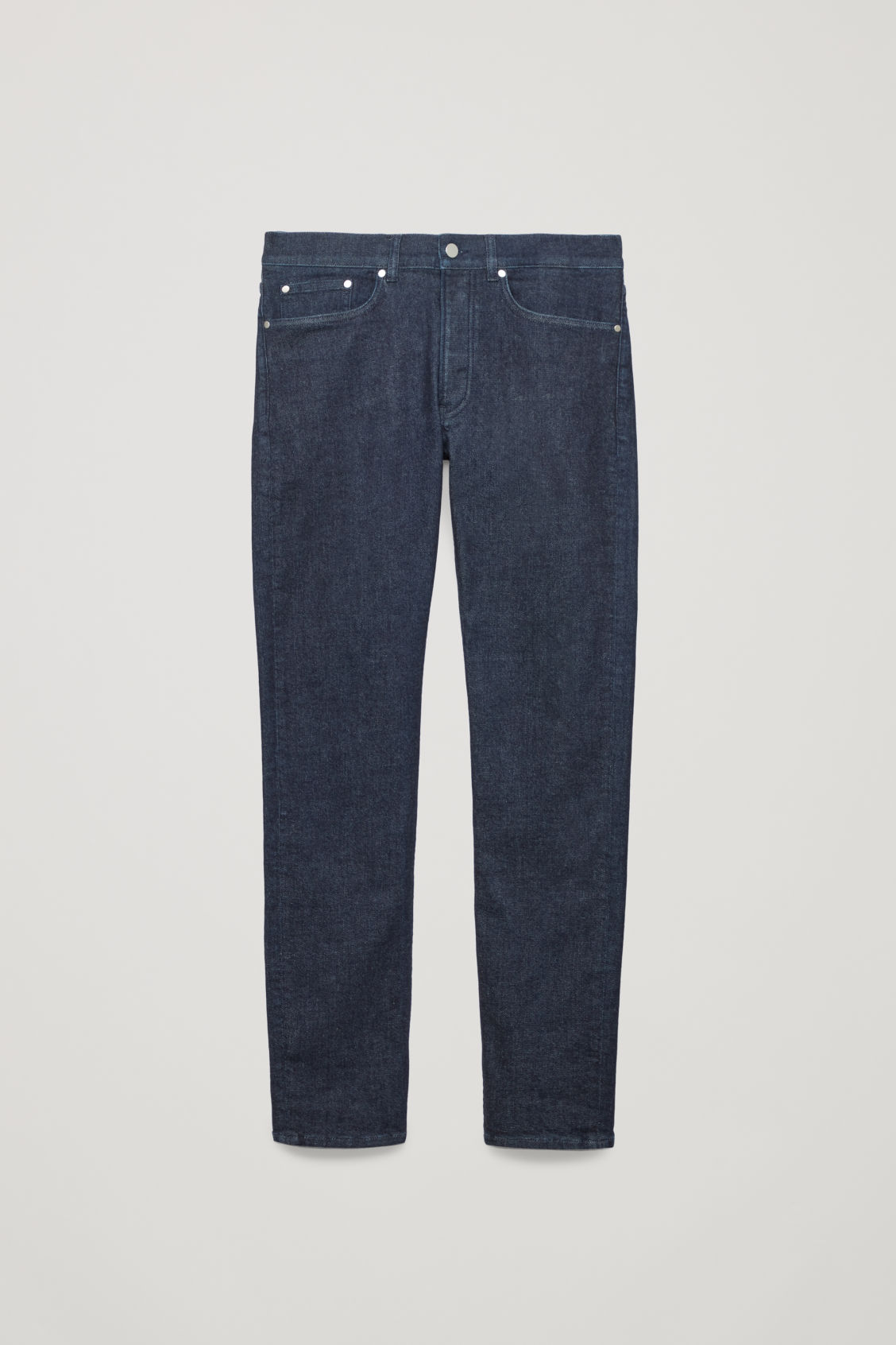Front image of Cos slim-fit jeans in blue
